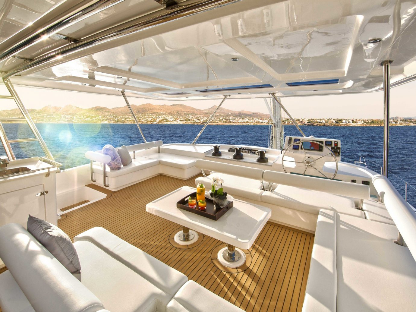 Trip Ideas Boat indoor vehicle watercraft yacht Deck ship luxury yacht