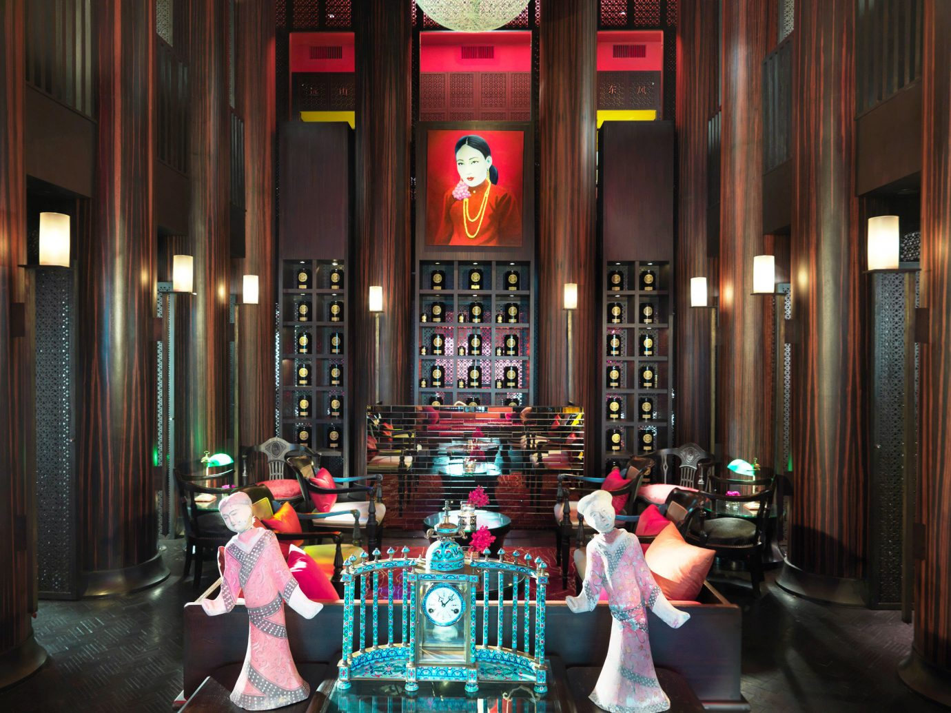 City Cultural Elegant Hotels Lobby Lounge floor Bar lighting restaurant interior design night