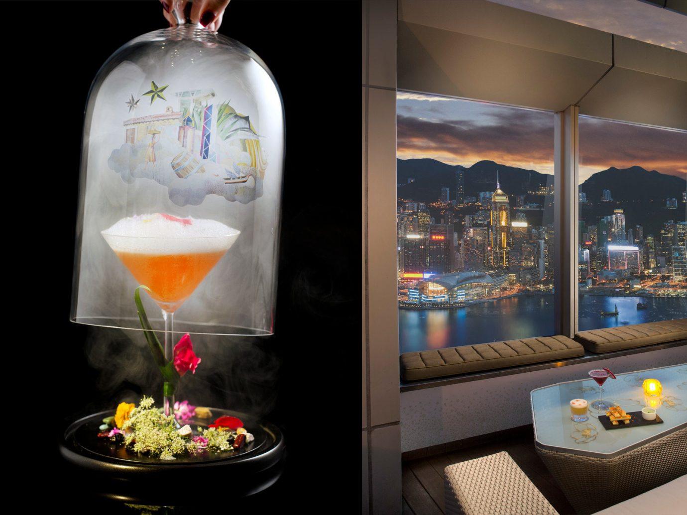 Food + Drink Drink lighting distilled beverage glass decorated