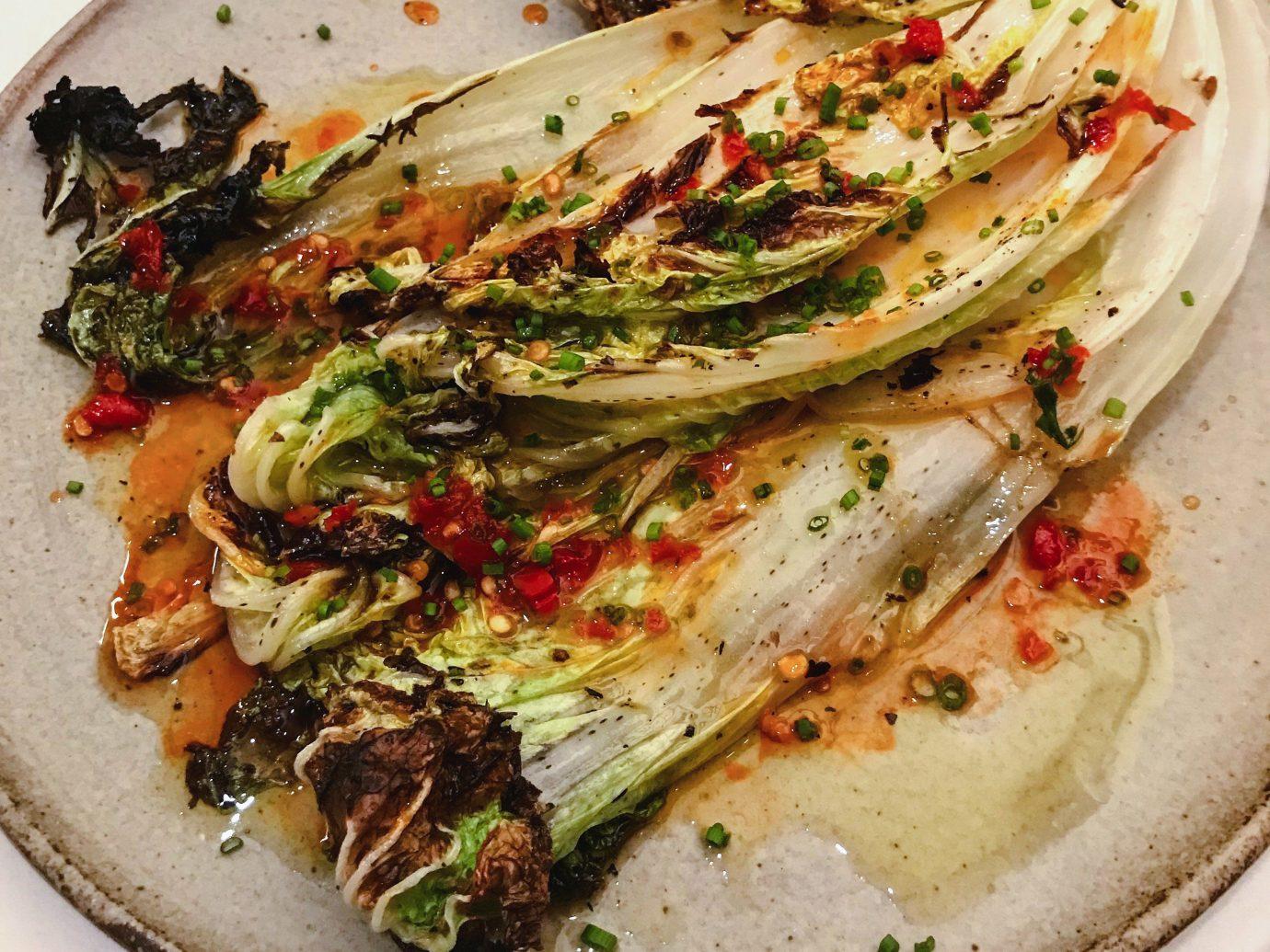 Food + Drink plate food dish Seafood vegetarian food vegetable recipe leaf vegetable fish meat
