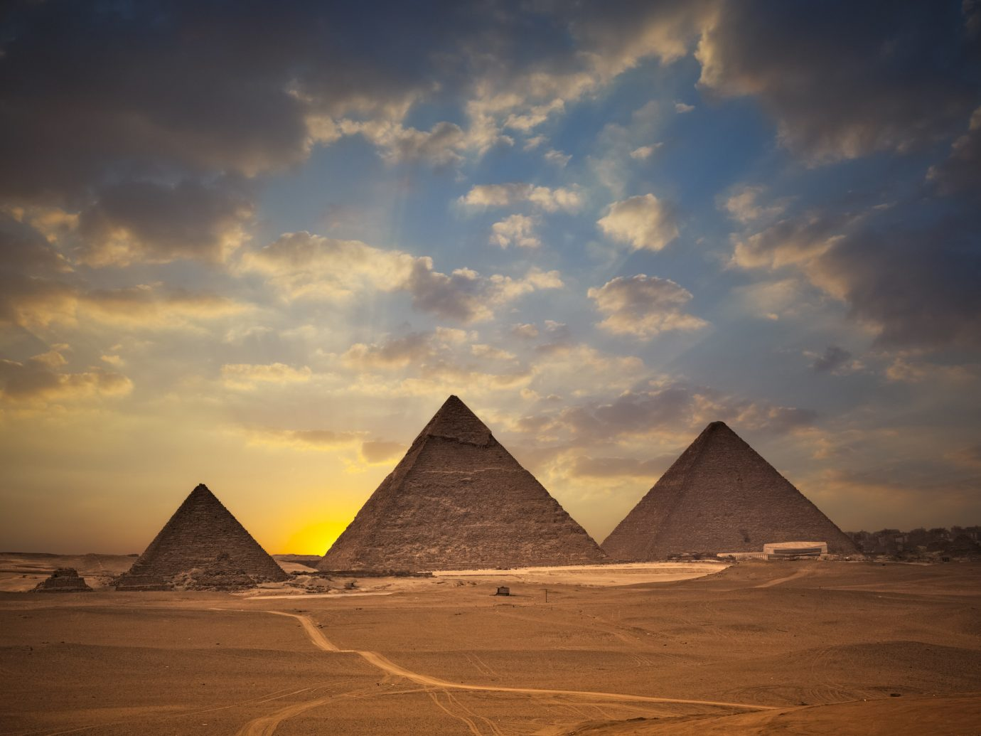 Trip Ideas sky outdoor pyramid monument mountain horizon sunlight dawn sunrise Sunset clouds day
