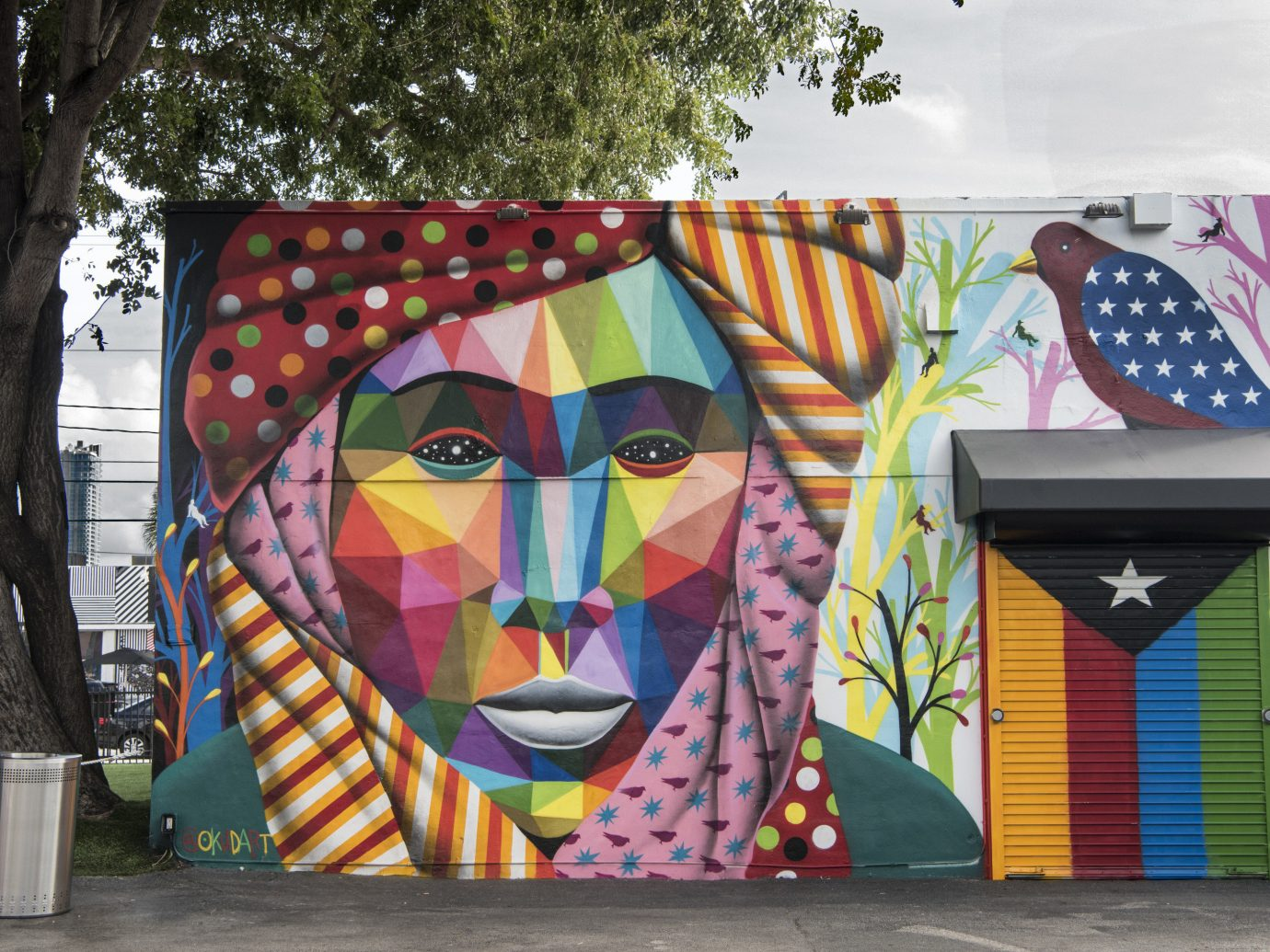 Trip Ideas tree outdoor color street art art graffiti mural colorful urban area colored decorated