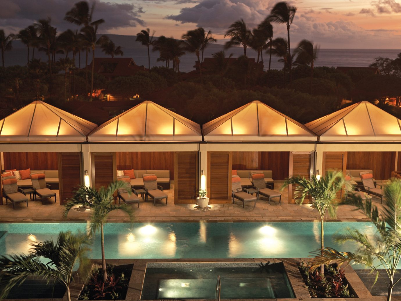Hotels Island Lounge Patio Pool Romance Tropical outdoor light estate Resort lighting home