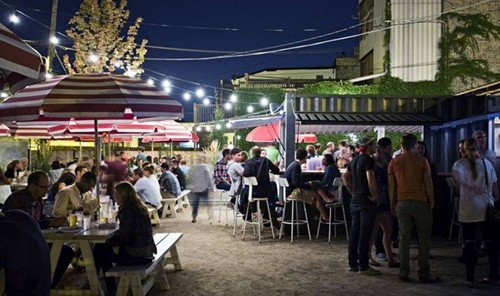 Food + Drink person public space City people market bazaar tourism group meal restaurant