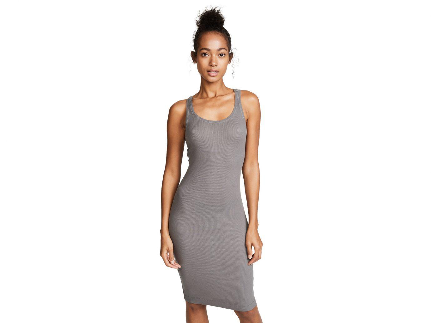 Celebs Style + Design Travel Shop clothing person dress day dress shoulder neck fashion model arm cocktail dress posing joint little black dress sleeve