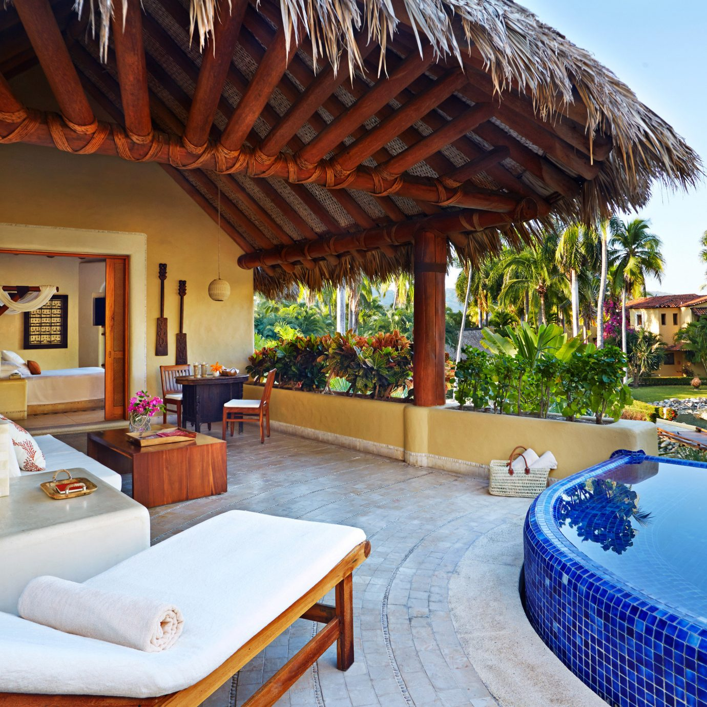 Honeymoon Modern Pool Romance Romantic Rustic Suite Terrace Tropical Waterfront property Resort leisure Villa swimming pool home cottage eco hotel hacienda