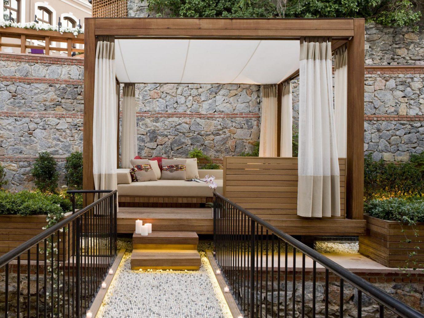 Hotels Luxury Travel building porch backyard outdoor structure estate home Courtyard Deck interior design wood cottage step furniture