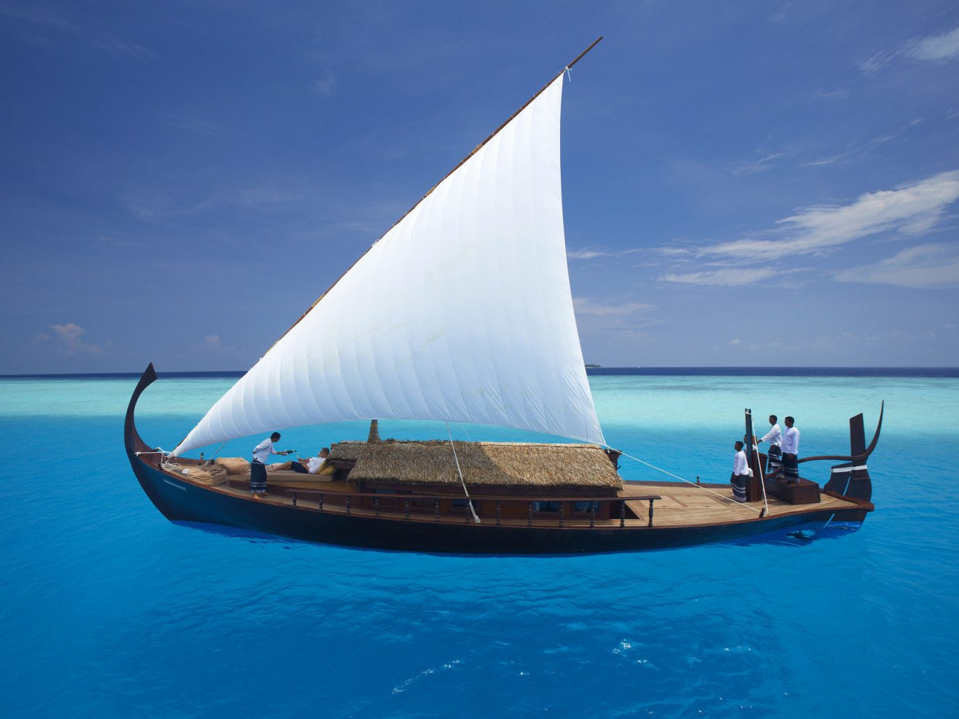 Boat calm clear water isolation Luxury Ocean people private remote rendering sailboat serene Trip Ideas turquoise water sky watercraft outdoor transport vehicle sail sailing ship Sea sailing blue sailing vessel ship schooner yacht bay clear day