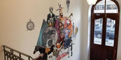 Hotels wall indoor room art furniture