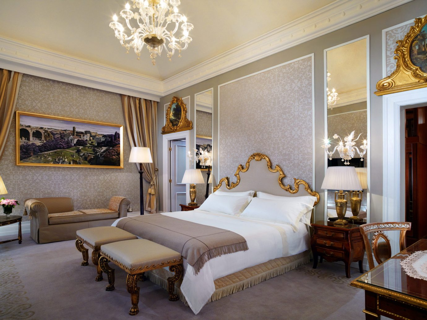 Bedroom Boutique Hotels City Italy Luxury Luxury Travel Romantic Romantic Hotels Rome indoor wall floor room bed property estate ceiling Suite living room interior design home real estate mansion Resort Villa decorated furniture