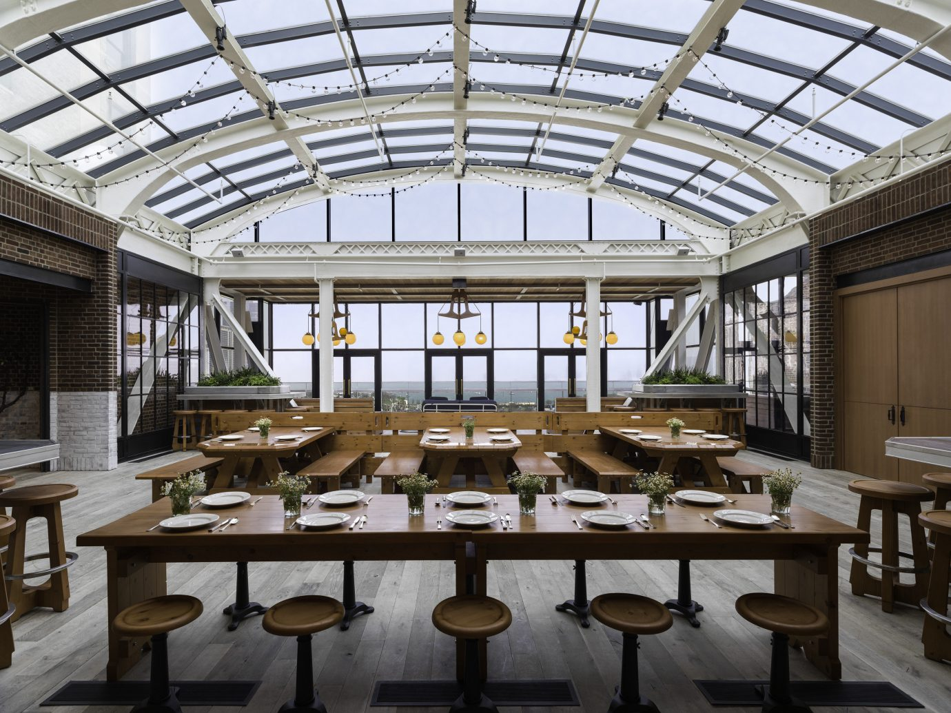 Trip Ideas indoor table floor building ceiling Architecture interior design estate restaurant Design function hall convention center meal furniture several