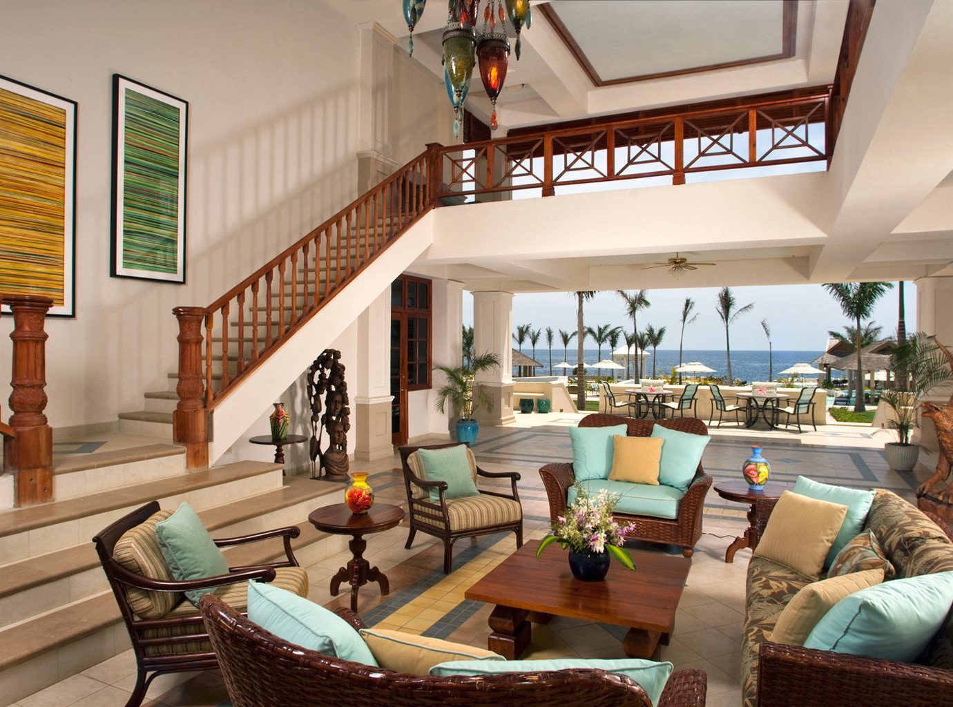 Island Lounge Scenic views Tropical living room property home house condominium Resort Villa cottage farmhouse mansion