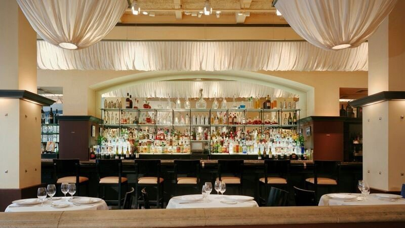 Food + Drink indoor ceiling restaurant meal interior design function hall Bar estate table