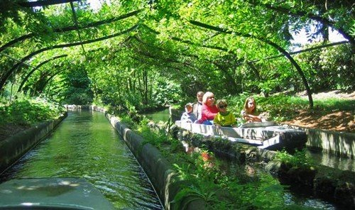 Family Travel Trip Ideas tree water River outdoor Canal waterway pond plant flower Jungle Garden rainforest botanical garden fish pond stream Boat several