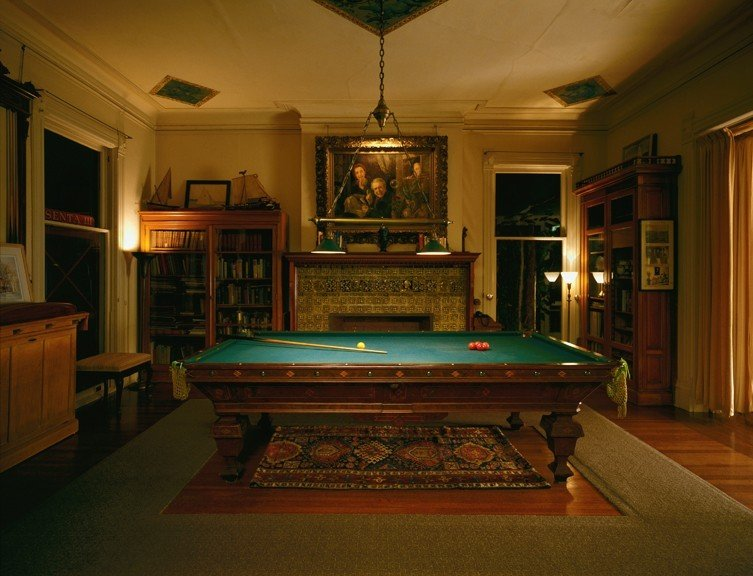 Trip Ideas floor indoor billiard room recreation room room ceiling estate house mansion home furniture interior design living room green wood table screenshot tourist attraction games lamp