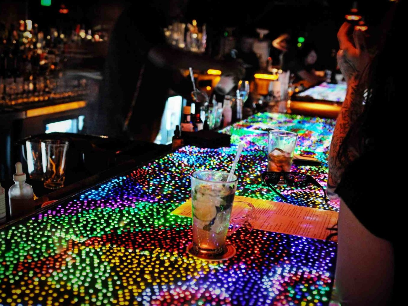 Food + Drink indoor person nightclub Music disco colorful Bar colored