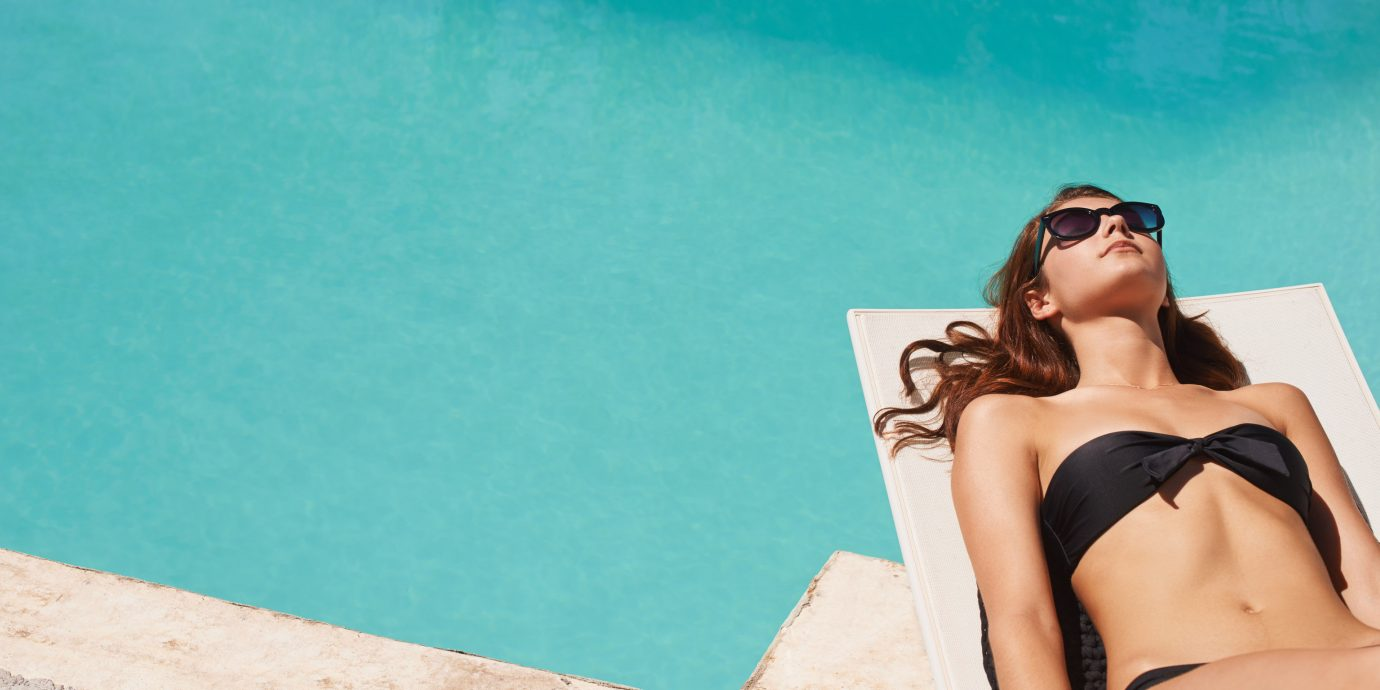 woman person clothing blue outdoor Beauty leg photo shoot model swimwear sun tanning swimsuit beautiful female