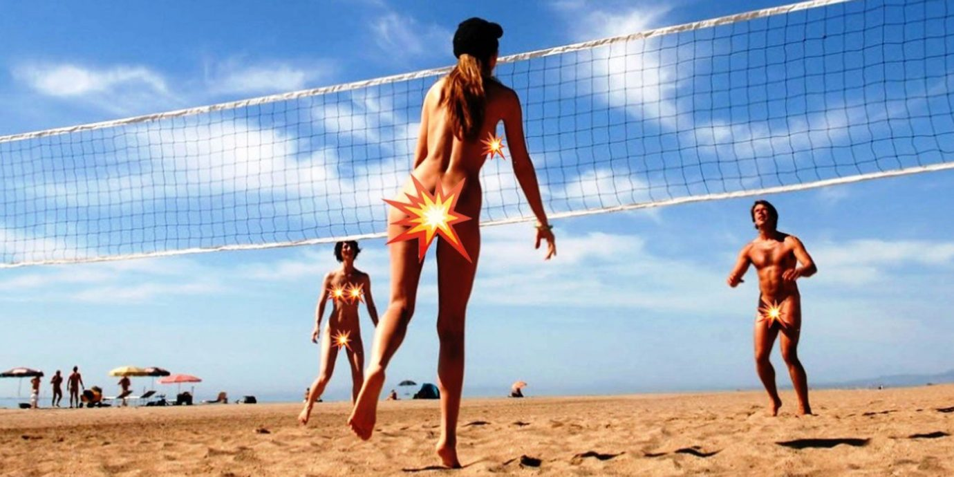 Offbeat sky outdoor Beach volleyball athletic game beach volleyball sports ball over a net games ball game