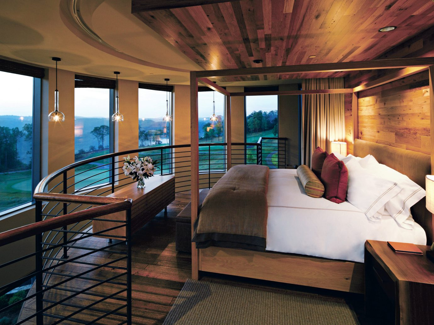 Bedroom Country Hotels Modern Scenic views Suite indoor table floor ceiling room window property passenger ship yacht Living estate Boat vehicle interior design Resort furniture luxury yacht Villa area