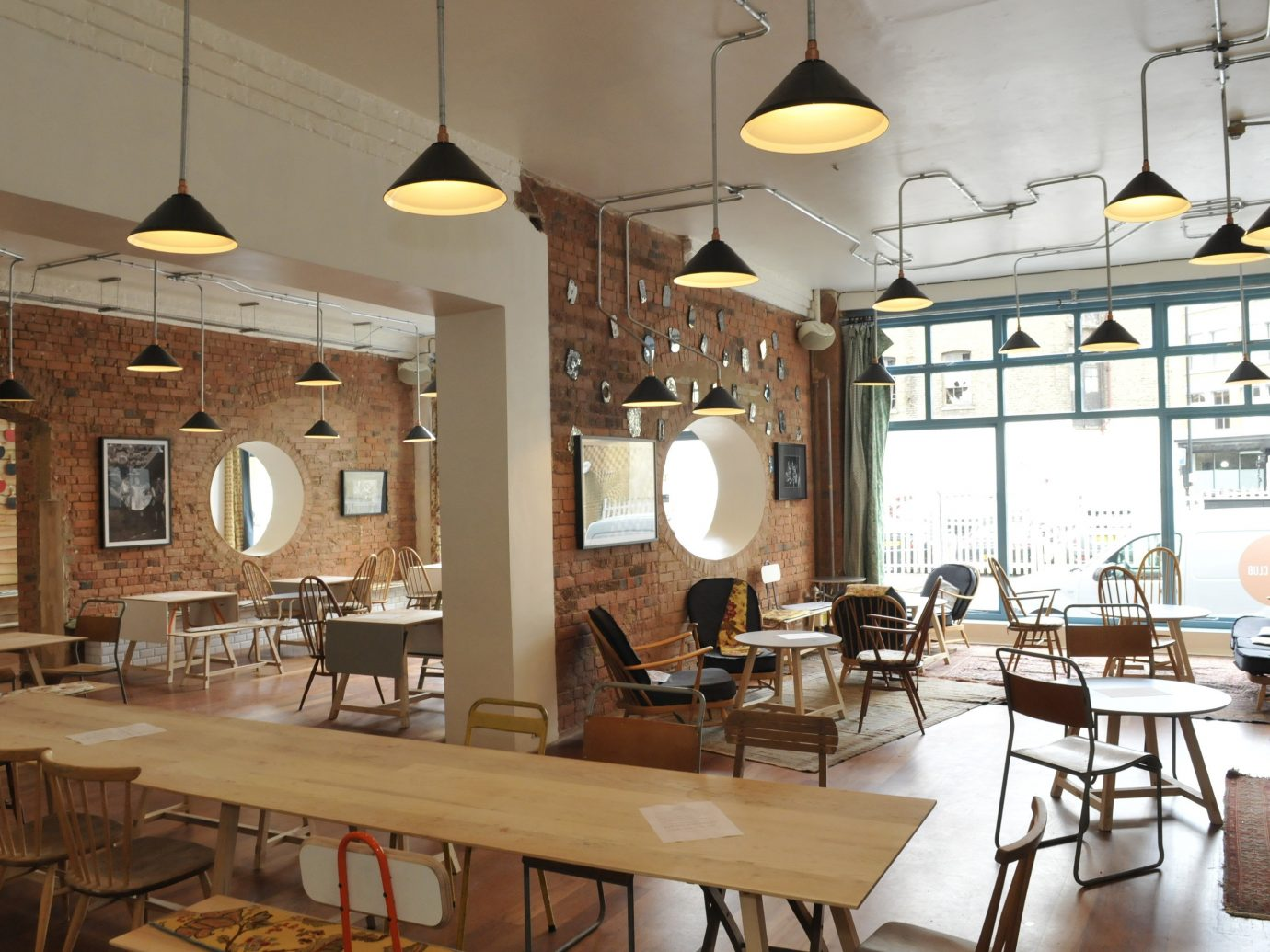 Offbeat Trip Ideas table indoor floor chair Living interior design room restaurant ceiling café furniture dining room coffeehouse area cluttered