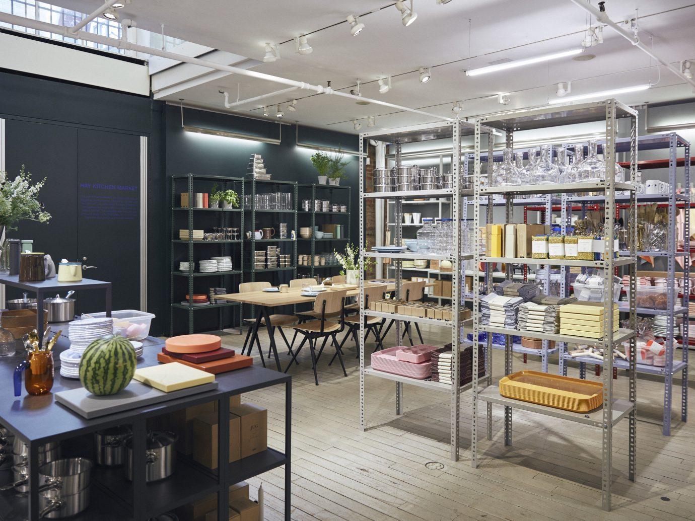 NYC Shops Style + Design indoor interior design retail café furniture