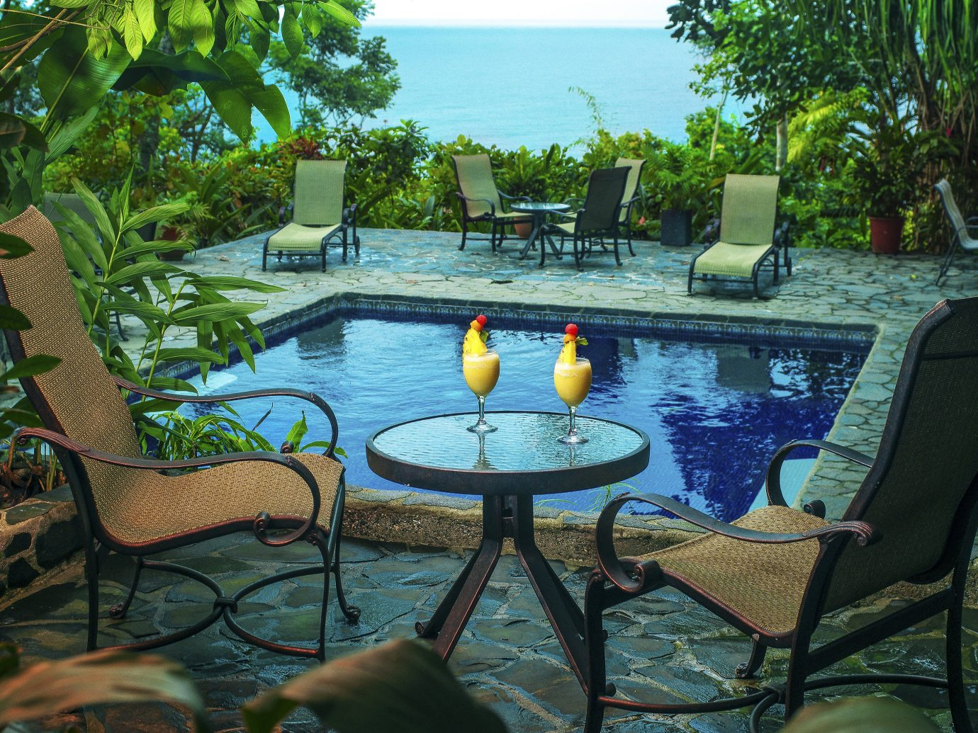 Poolside cocktails at La Paloma Lodge - Osa Peninsula in Costa Rica