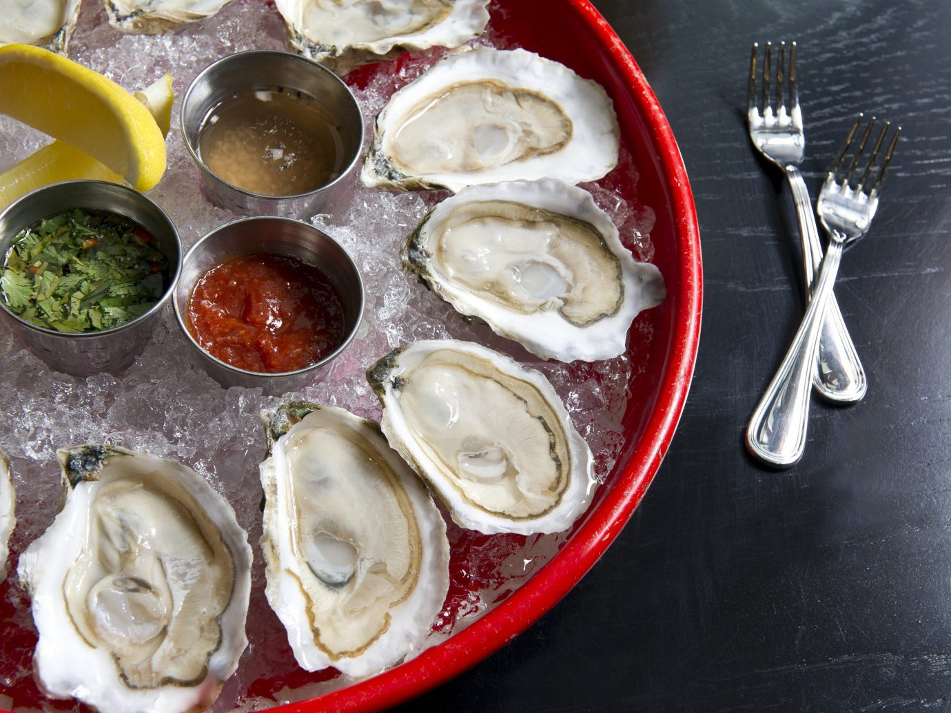 platter of oysters
