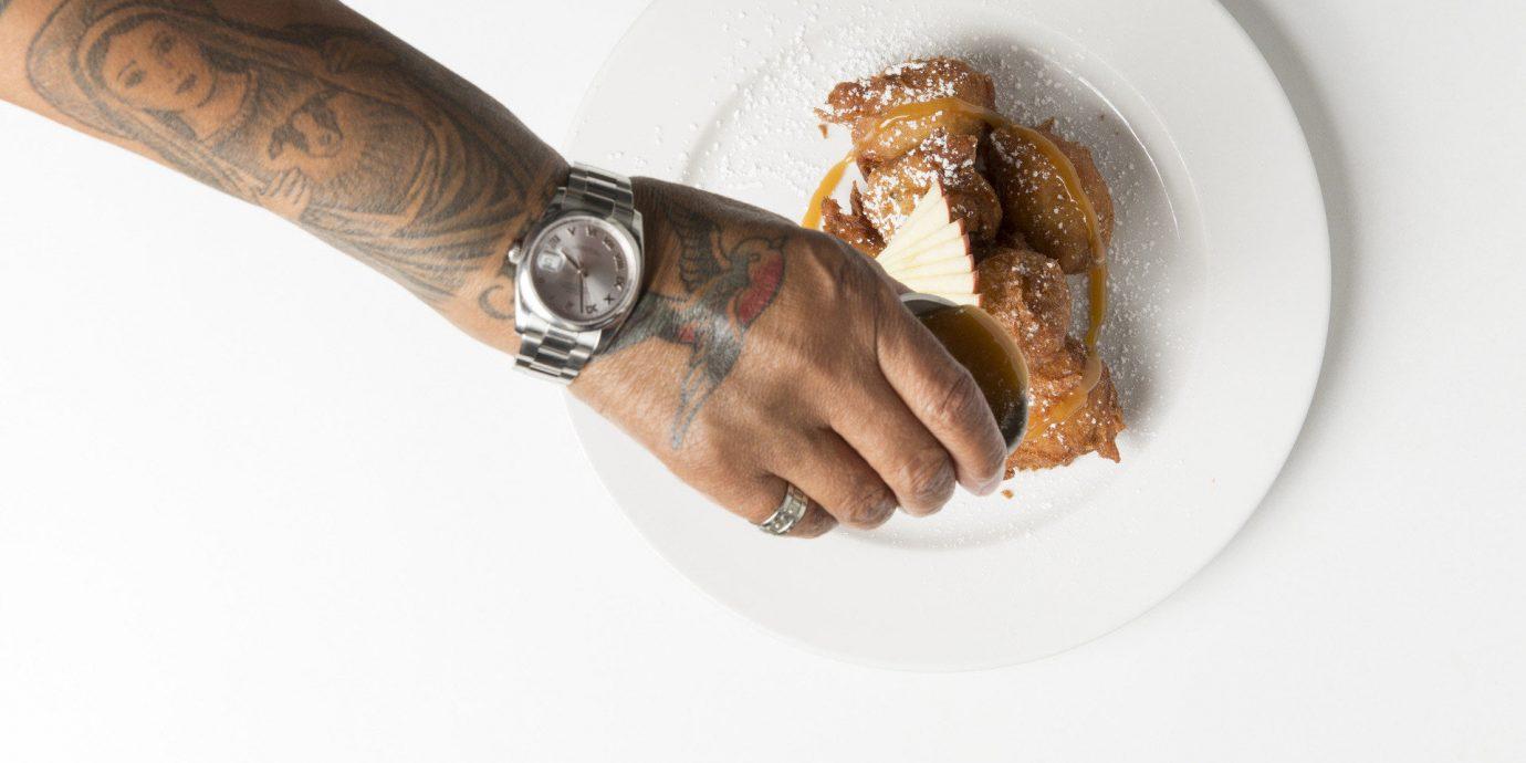 Food + Drink plate hand food finger sense dessert sliced