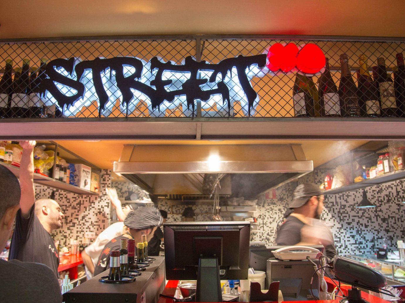 Food + Drink indoor restaurant Bar meal sense fast food cluttered