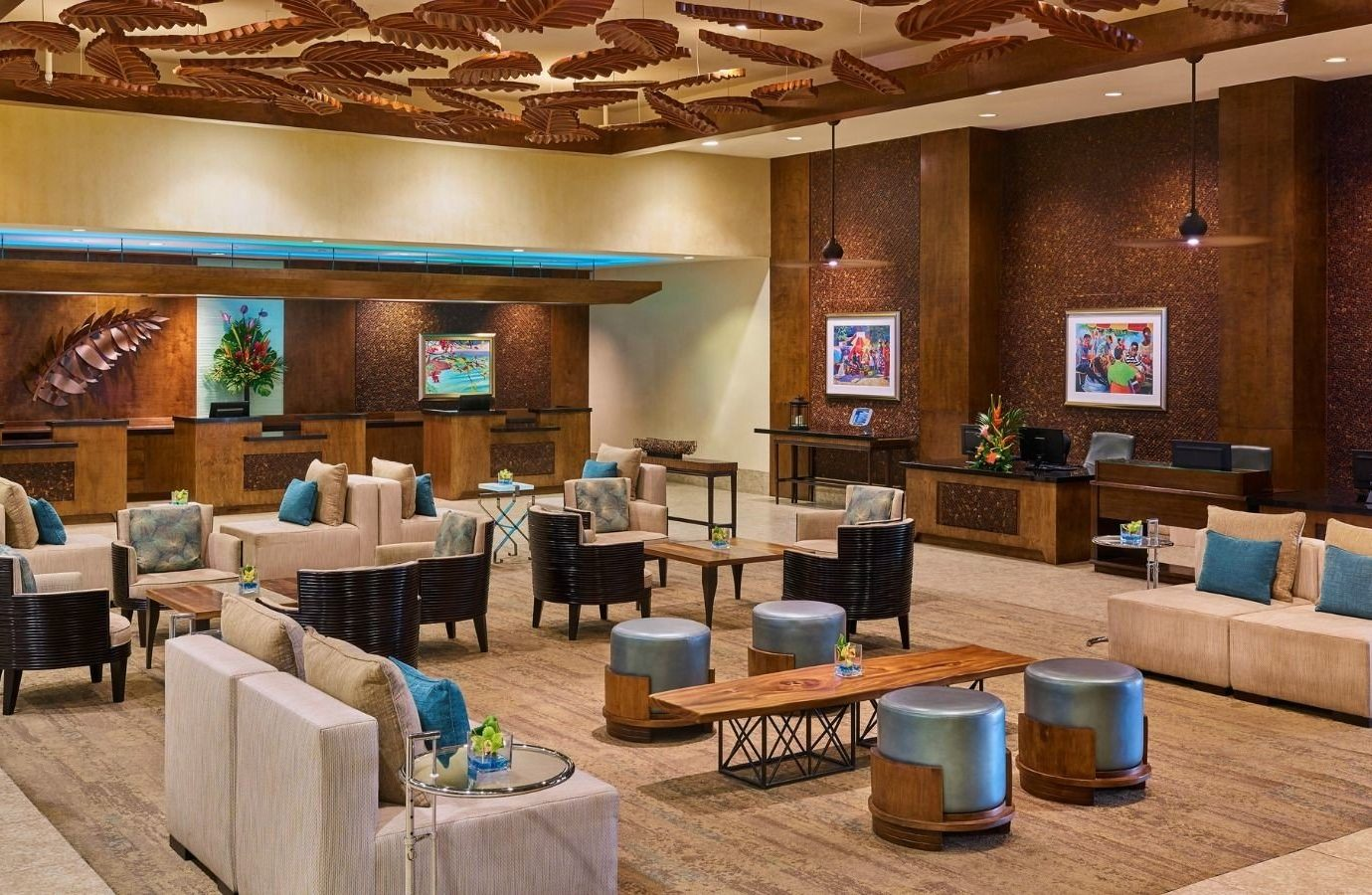 Hotels Lobby interior design restaurant furniture