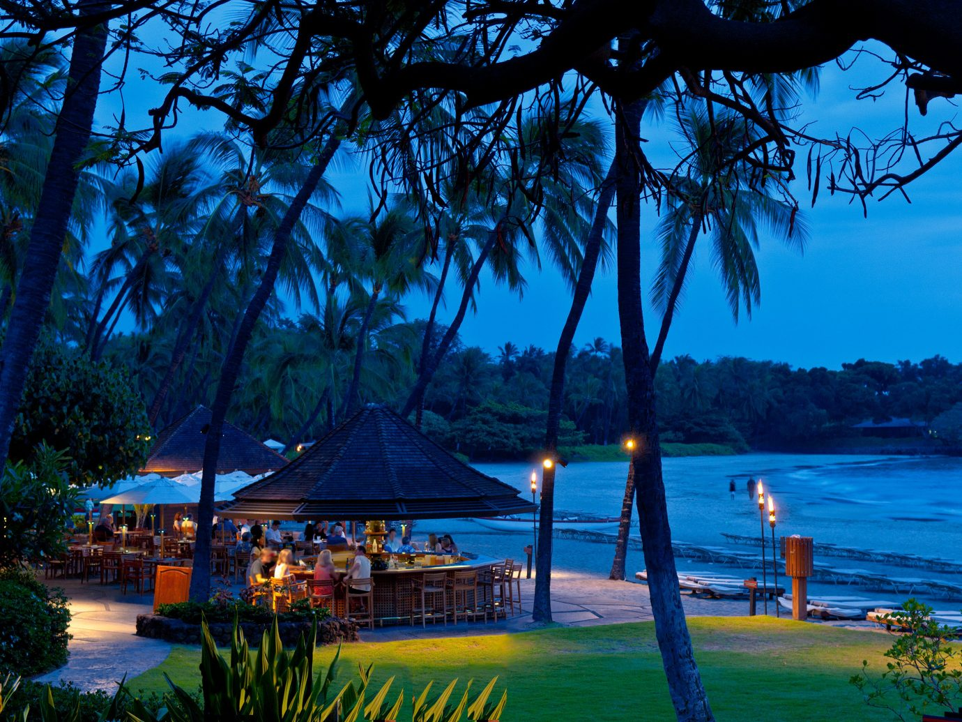 Bar Beach Beachfront Drink Jetsetter Guides Lounge Nightlife Ocean Resort Scenic views tree outdoor water body of water River arecales tropics Sea overlooking plant lined shore