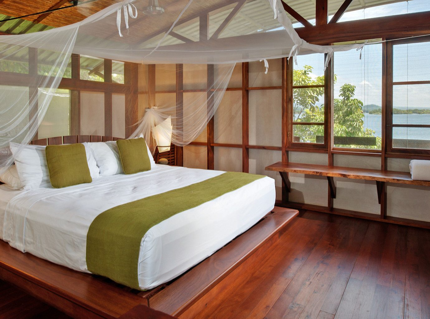 All-inclusive All-Inclusive Resorts Bedroom Eco Family Travel Honeymoon Hotels Resort Romance Romantic Trip Ideas indoor floor bed room property window cottage estate interior design furniture Villa bed sheet Suite real estate wood