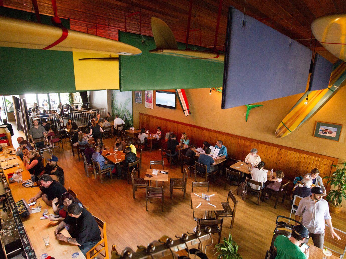 Food + Drink indoor meal restaurant auditorium cluttered area