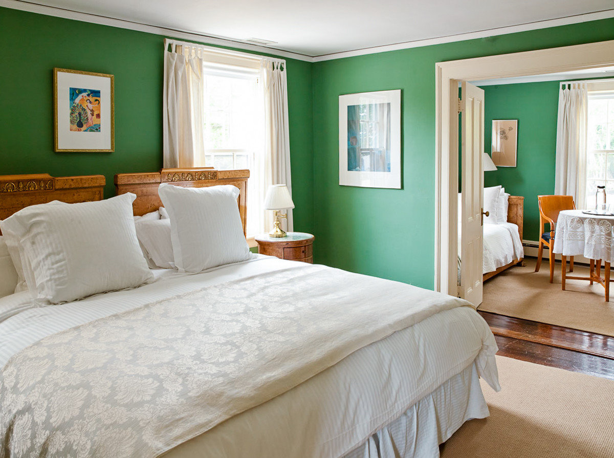Beach South Fork The Hamptons bed indoor wall hotel room Bedroom floor bed frame ceiling home interior design Suite window green real estate bed sheet estate window treatment white bedding furniture pillow window covering mattress