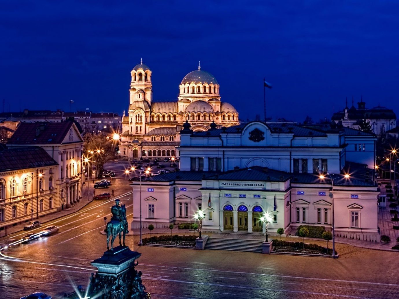 Trip Ideas outdoor night landmark Town cityscape City evening reflection dusk waterway place of worship cathedral