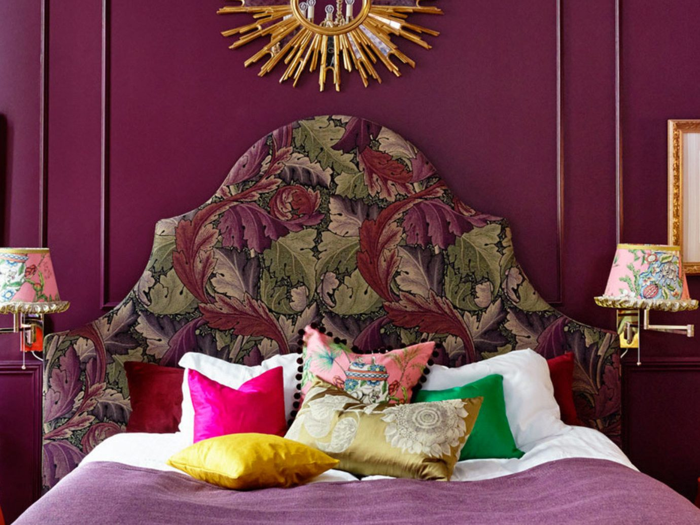 Trip Ideas wall indoor room red living room interior design furniture colorful decorated Bedroom colored bright