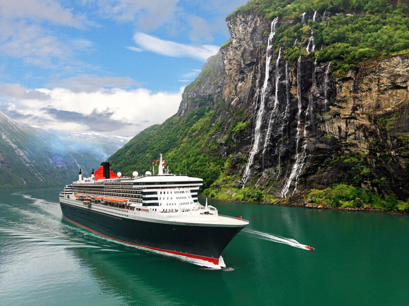 Trip Ideas water outdoor Boat mountain vehicle passenger ship fjord Sea ship cruise ship watercraft Coast bay boating