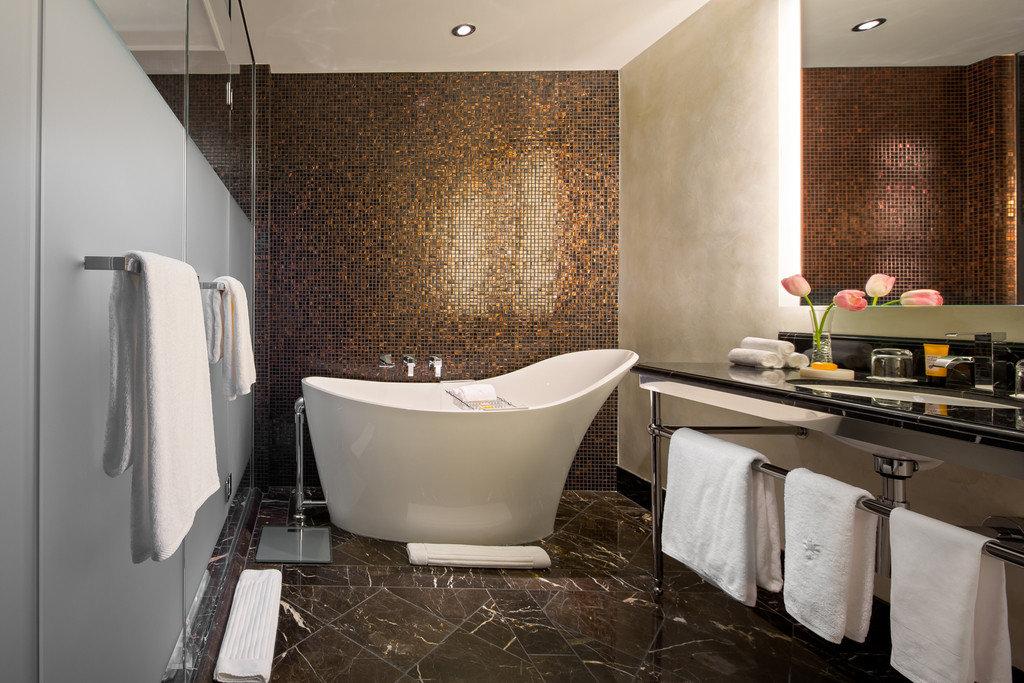 Boutique Hotels Hotels wall indoor floor room bathroom interior design flooring tile countertop sink plumbing fixture interior designer furniture tiled