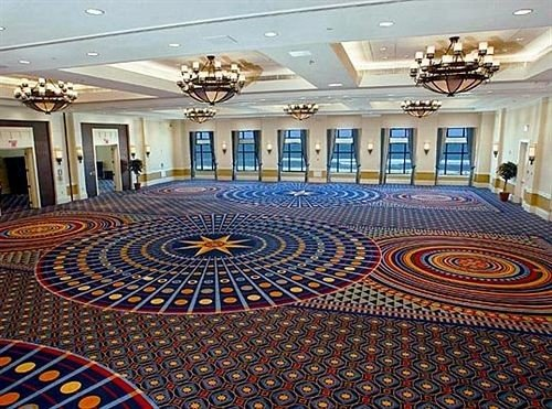 auditorium flooring convention center ballroom function hall Lobby rug colorful