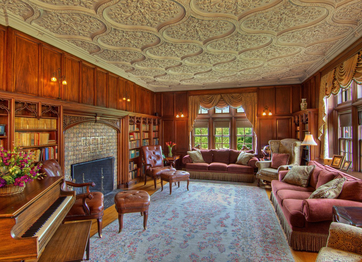 Lounge Luxury Rustic property Lobby living room mansion home recreation room palace Resort
