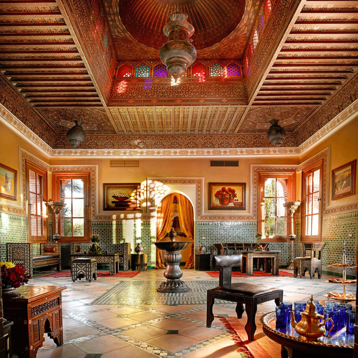 Lobby Rustic building palace
