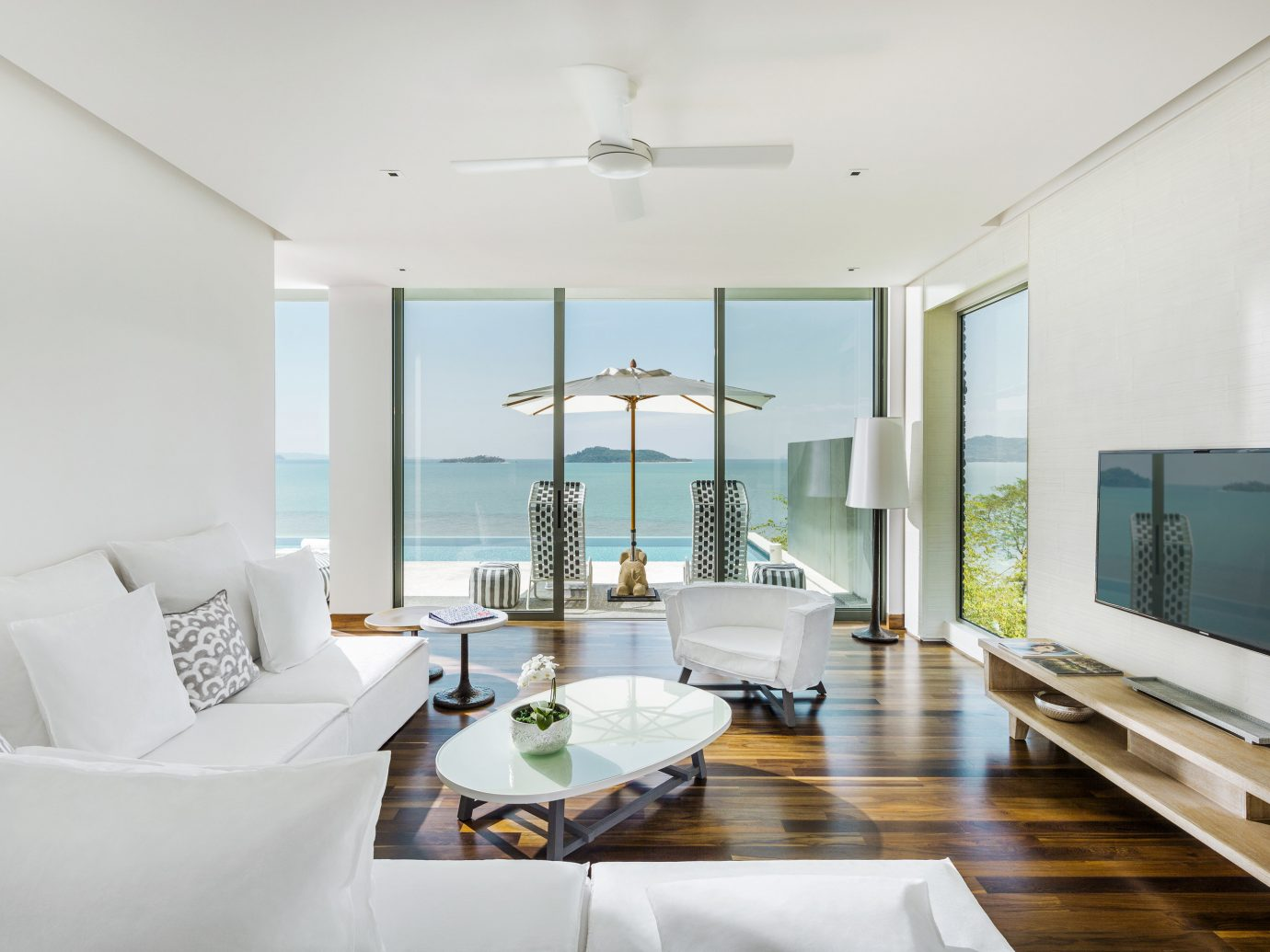 Beach Hotels Phuket Thailand indoor wall floor room ceiling living room window Living interior design Architecture real estate penthouse apartment house apartment interior designer Suite furniture condominium decorated
