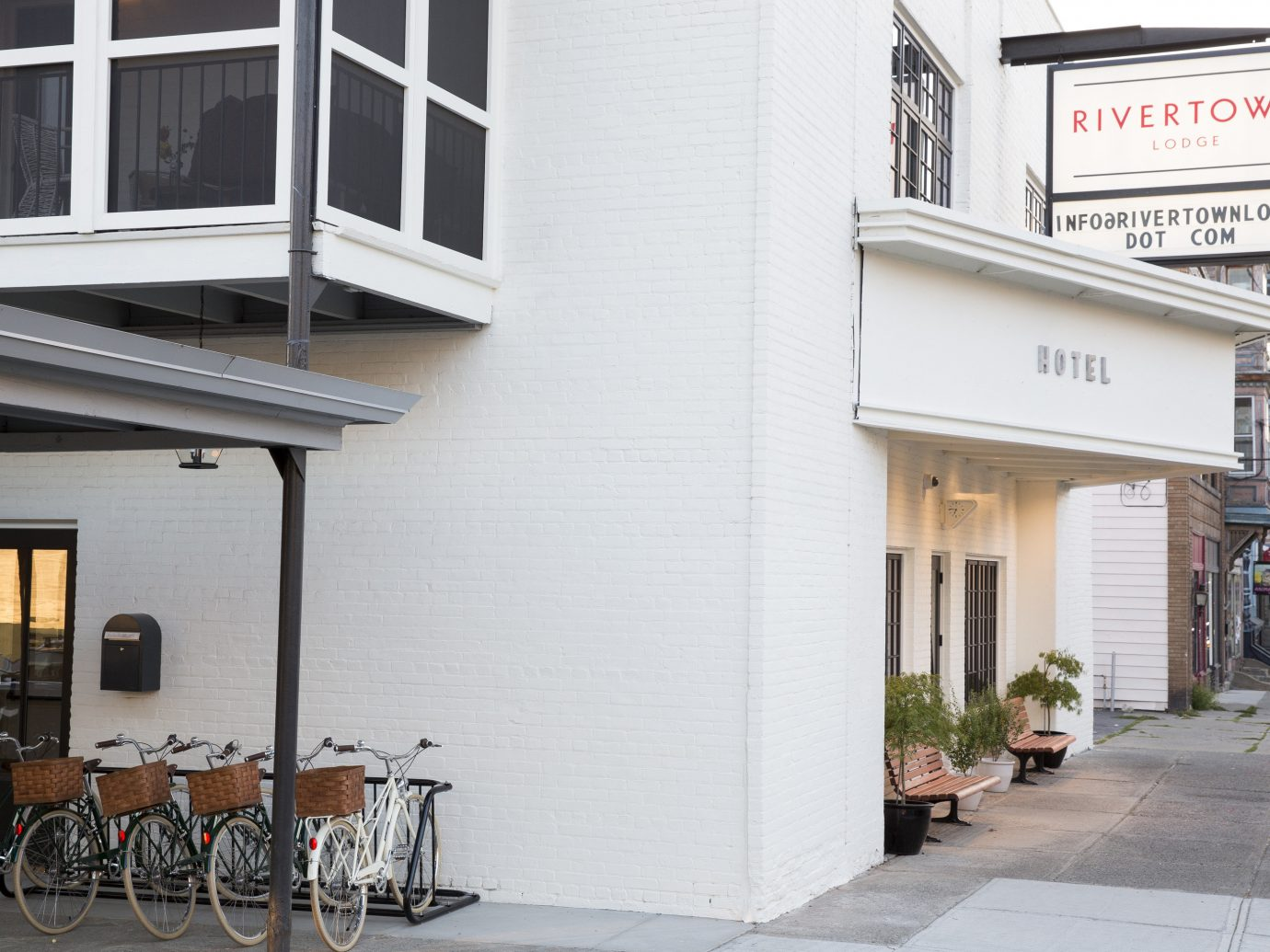 Hotels Style + Design Trip Ideas building outdoor bicycle property parked home facade interior design restaurant porch scooter