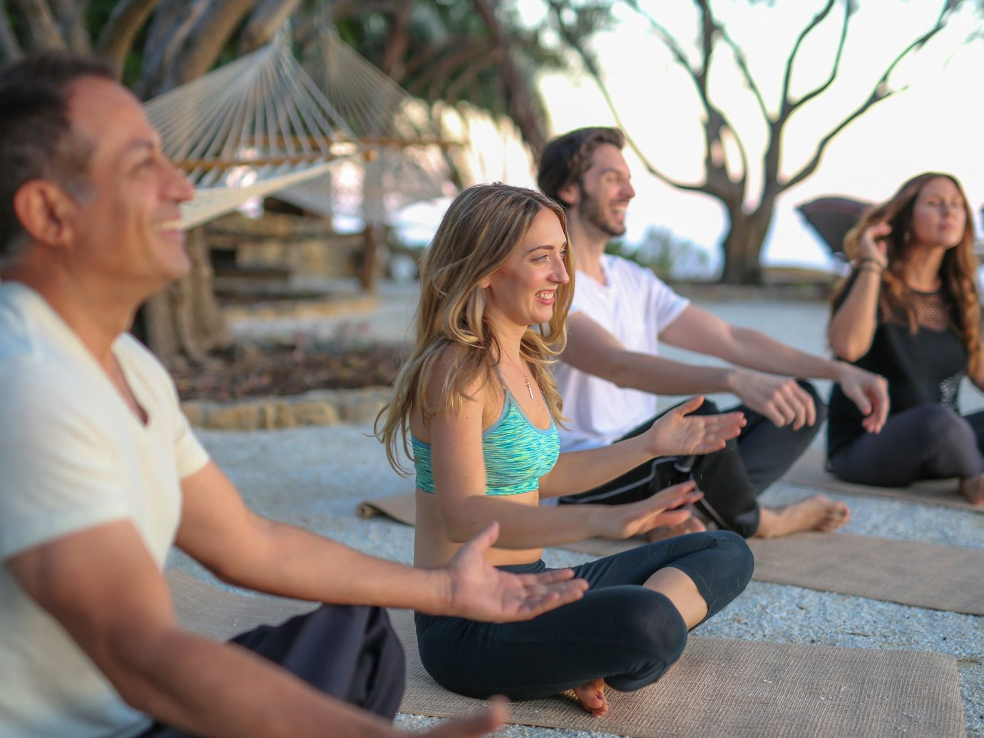 Health + Wellness Meditation Retreats Offbeat Spa Retreats Yoga Retreats person outdoor leisure human positions physical fitness sitting sports yoga martial arts