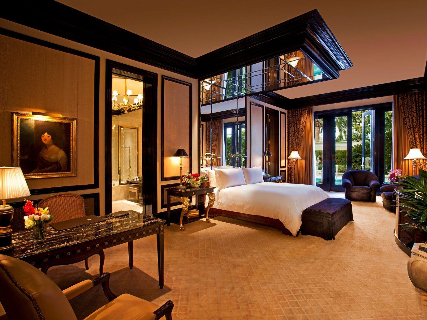 Bedroom in a Three-Bedroom Villa at The Mirage Resort & Casino in Las Vegas
