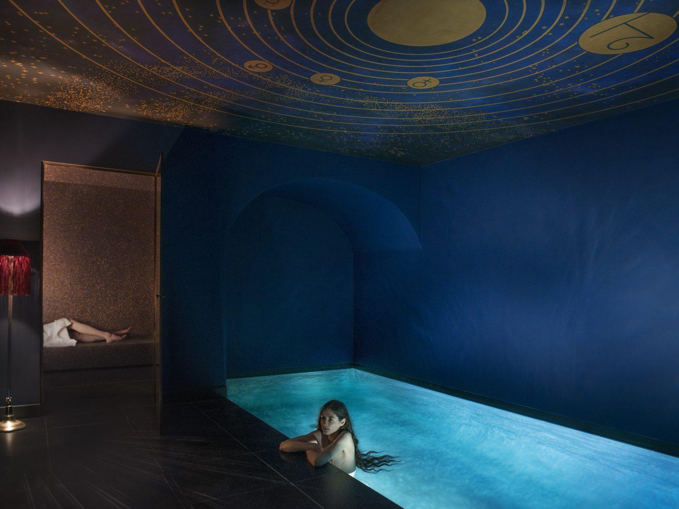 Hotels indoor light darkness stage screenshot interior design theatre swimming pool scenographer