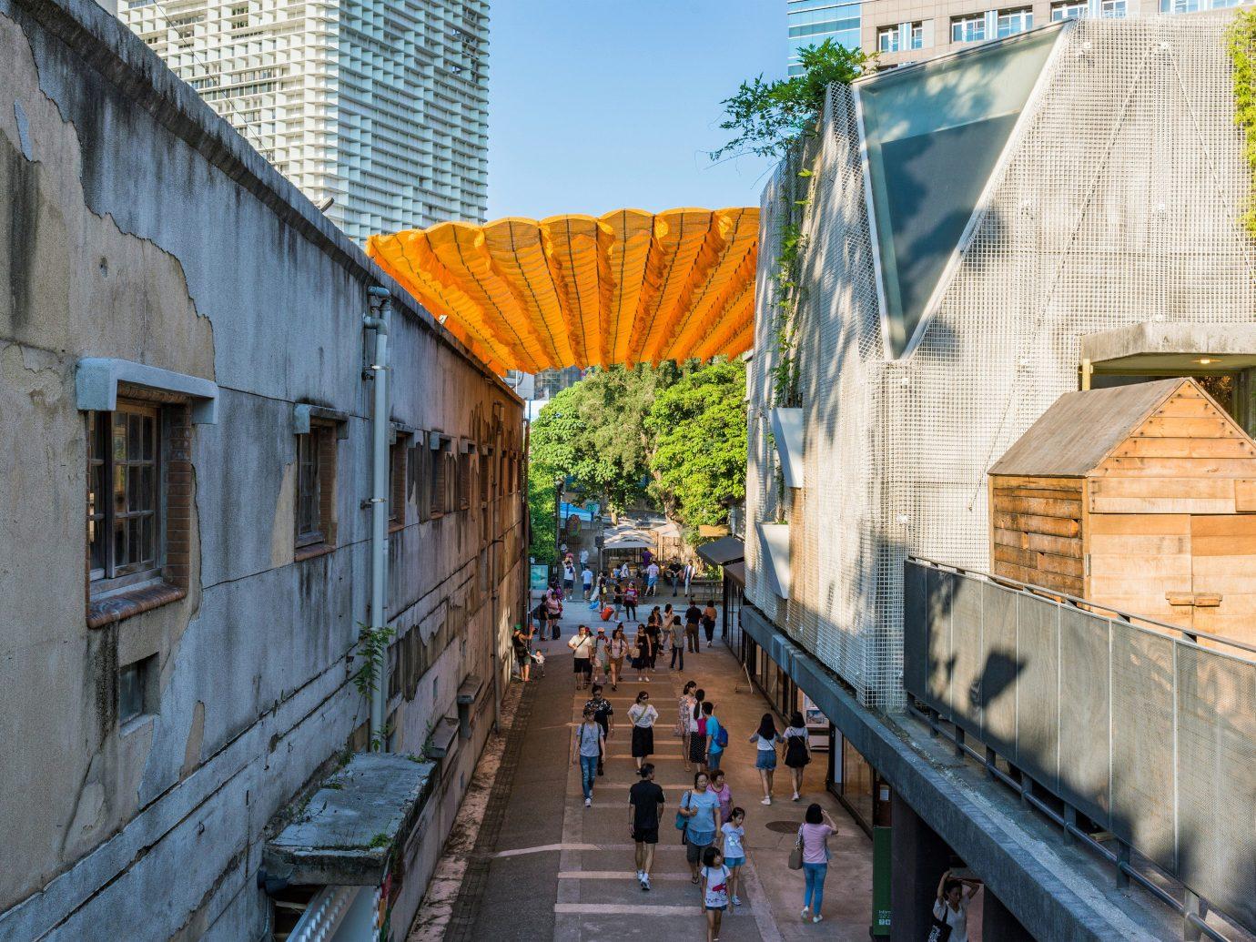 Arts + Culture Taipei Travel Tips Trip Ideas Architecture urban area neighbourhood City sky tree building facade house roof recreation street