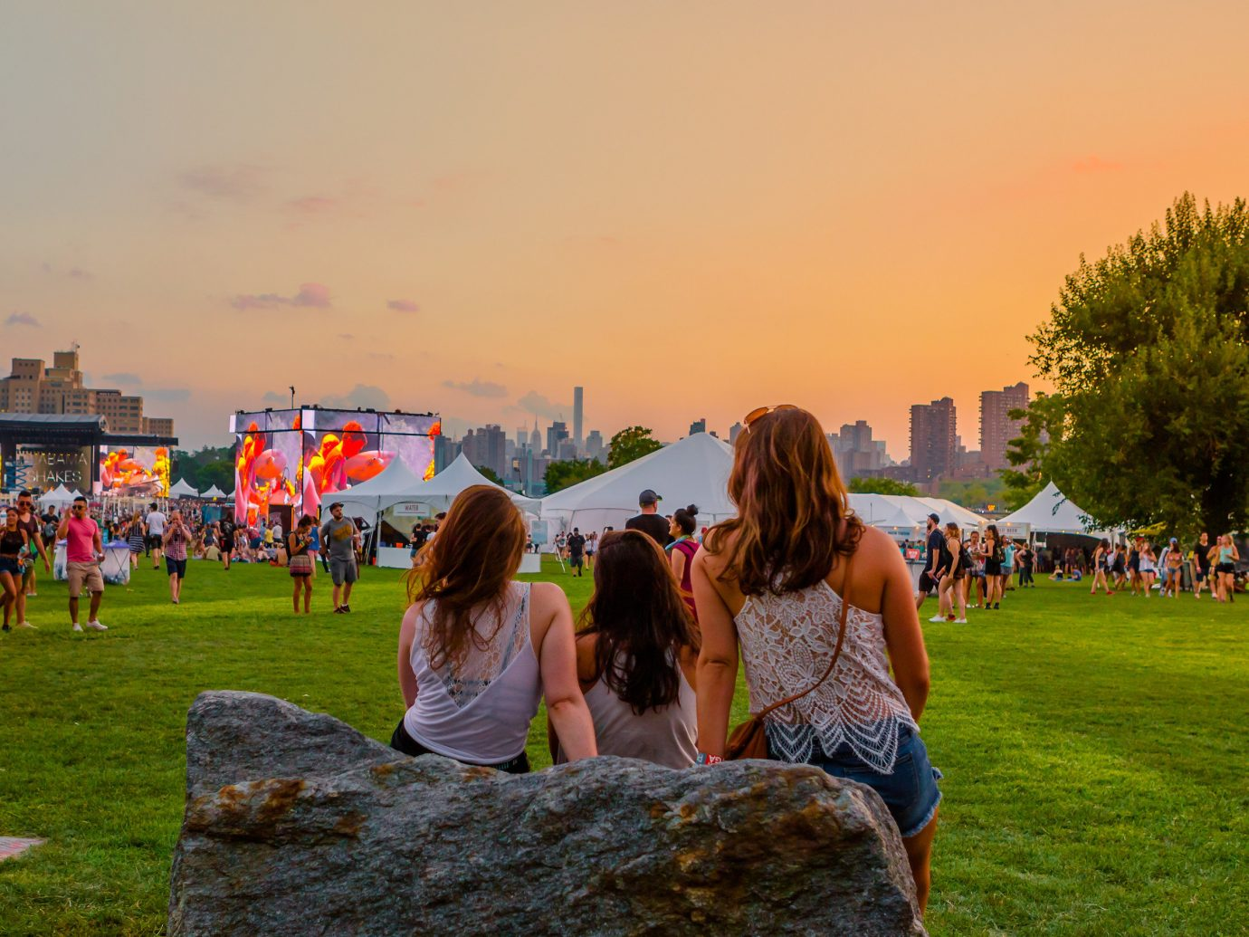 Arts + Culture concert music festival music venue summer grass sky outdoor person season vacation morning megalith