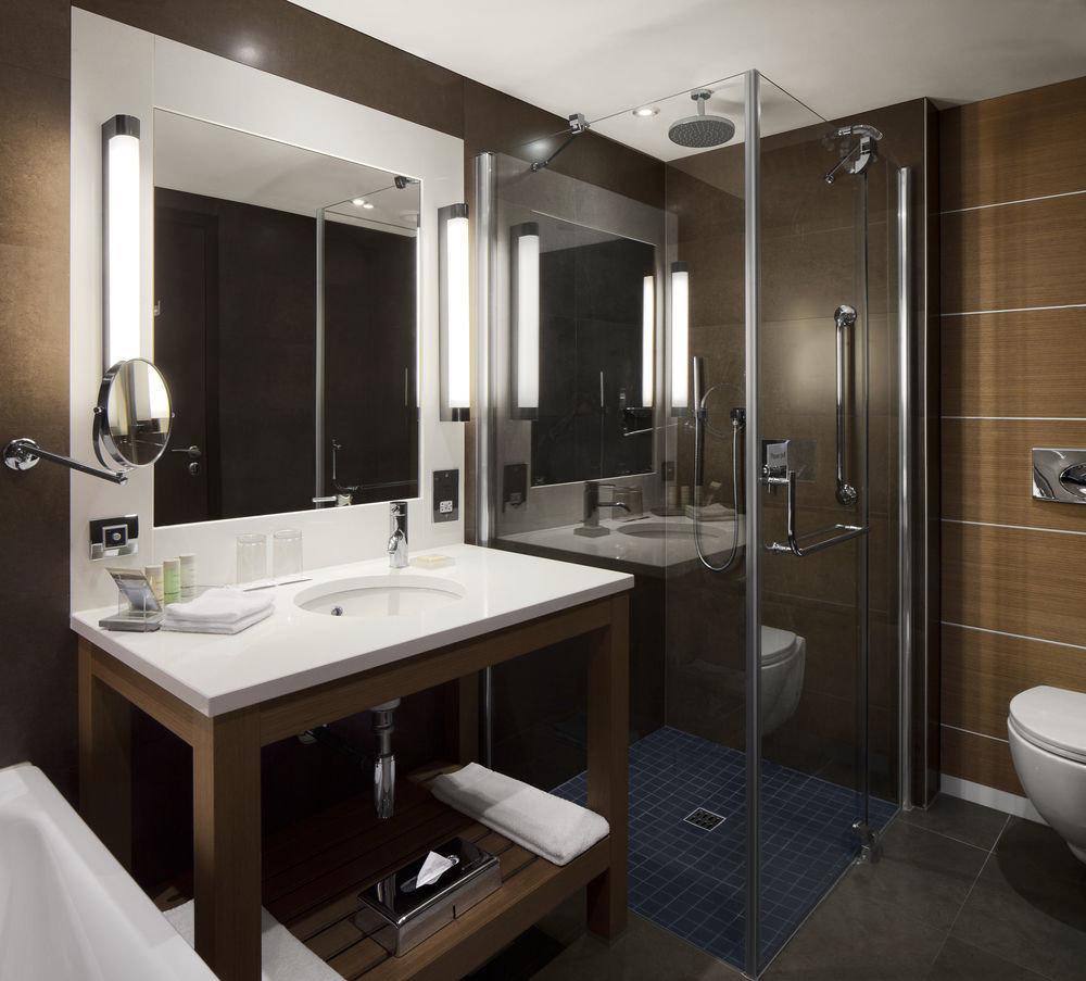 bathroom property sink Suite home plumbing fixture toilet Modern