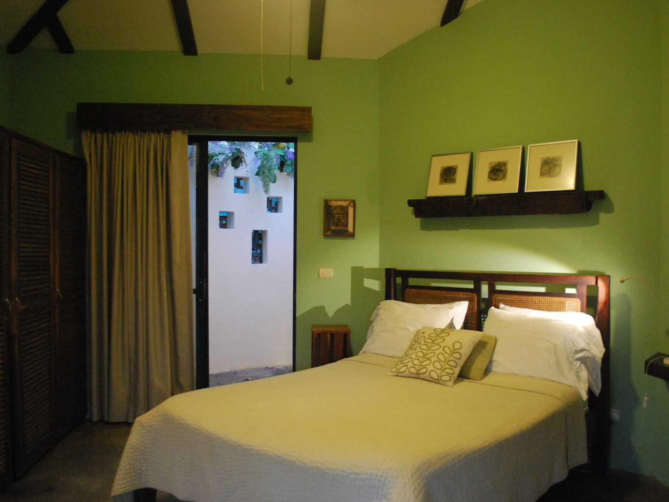 Bedroom at Casa Frangipani in Costa Rica